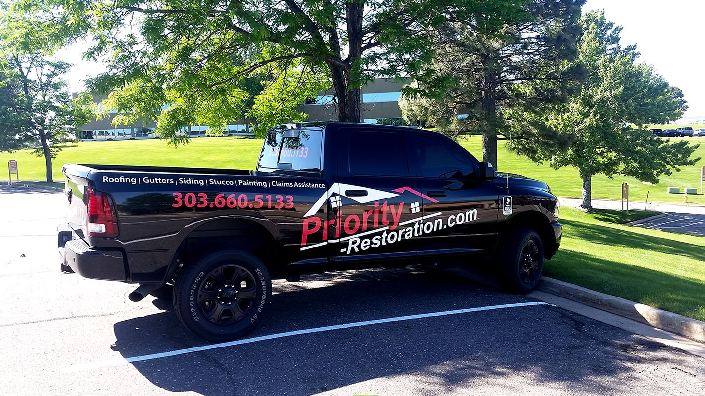 Priority Restoration services truck